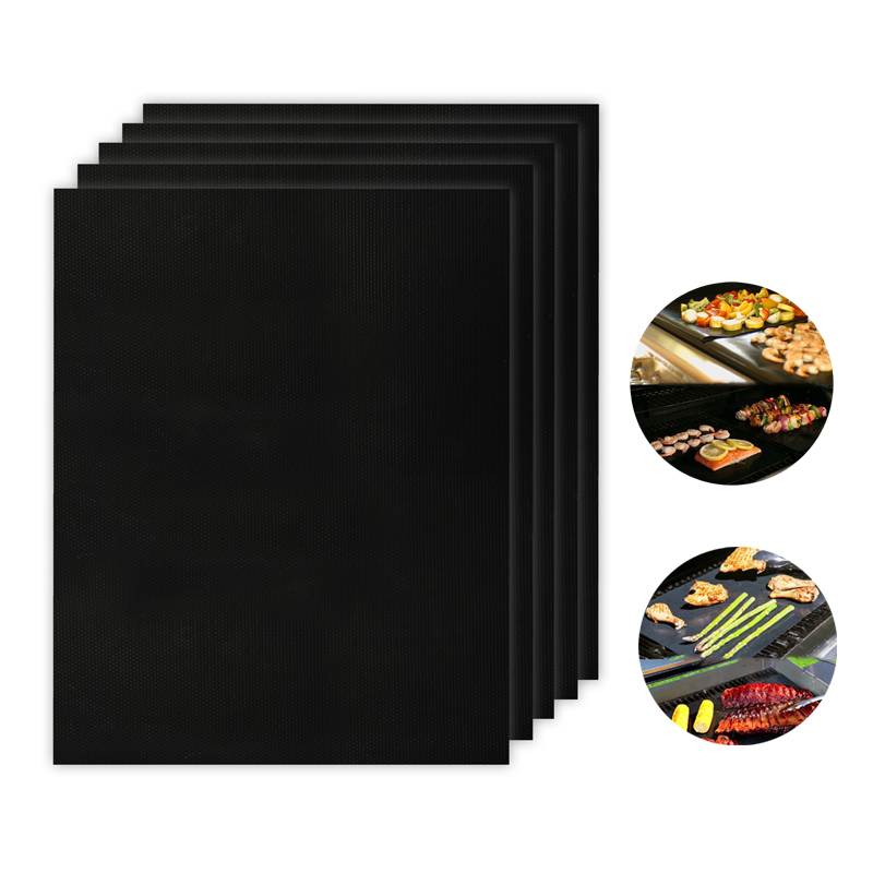 Reusable Easy To Clean Baking Cooking Pad PTFE Barbecue Grilling Mats Teflon Non-stick BBQ Grill Mats