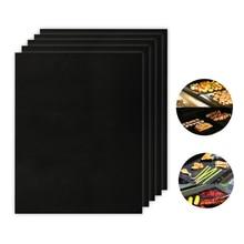 Многоразовые легко моющиеся выпечки кухонная подкладка PTFE барбекю коврики для жарки антипригарные барбекю Гриль коврики