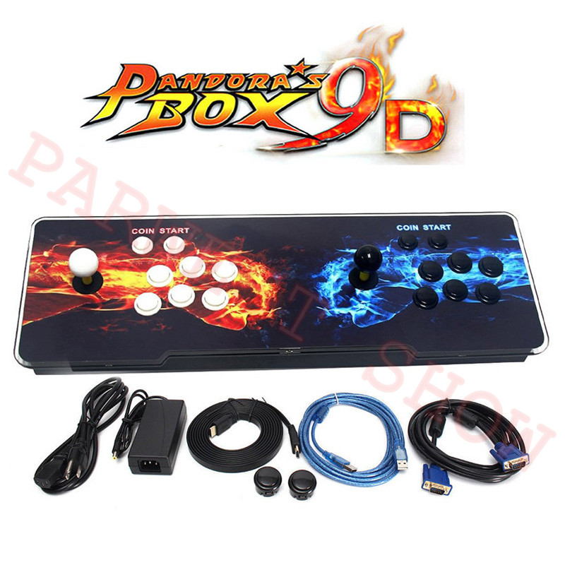 Hot Sale Pandora Box 9D Arcade Video Game Console 2222 In 1/2500 In 1 For TV 2 Players Arcade Joystick  Push Button HDMI/VGA