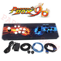 Hot Sale Pandora Box 9D Arcade Video Game Console 2222 in 1/2500 in 1 for TV 2 Players Arcade Joystick Push Button HDMI/VGA