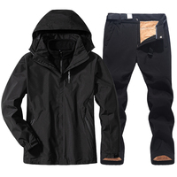 Мужской тонкий и тёплый лыжный костюм, для лыжных прогулок 1