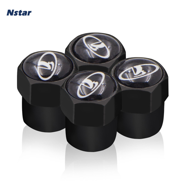Nstar 4pcs/set LADA Car Tire Valve Caps Auto Styling Wheel Cap Part Accessories For Lada Priora Vesta Taiga Kalina 001