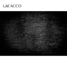 Laeacco stary ciemny czarny ściana z cegły wzór Home Decor Photocall fotografia tło portret tło do zdjęć do studia fotograficznego
