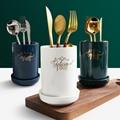 Керамические палочки для еды  полка для хранения  круглые палочки для еды  трубка для домашней кухни  держатель для столовых приборов  ложка ...