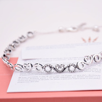 New 925 Sterling Silver Necklace Crown And Heart Swirls Choker Adjust Necklace For Women Wedding Gift Diy Jewelry