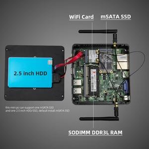 Image 5 - Fanless mini pc intel celeron j1900 windows 10 duplo nic gigabit etherent 2x rs232 hdmi vga wifi 4xusb linux computador industrial