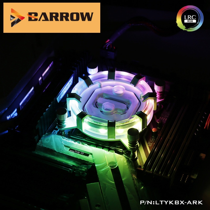 Barrow CPU Water Block use for INTEL LGA 2011 <font><b>2066</b></font> X99 X299 Radiator 5V GND to 3PIN Hearder Motherboard LTYKBX-ARK image