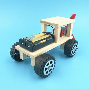 Diy Electric Wind Car Assembled Puzzles Science Experiment Kits Educational Mini Model Early Learning Toy Kid Science Toys Gifts theo jansen mini strandbeest model wind power beast diy educational toys handmade science experiment toys child birthday gift