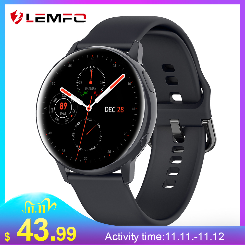 LEMFO SG2 Full Touch Amoled 390 390 HD Screen ECG Smart Watch Men Wireless Charging IP68 Waterproof Heart Rate BT 5 1 Smartwatch