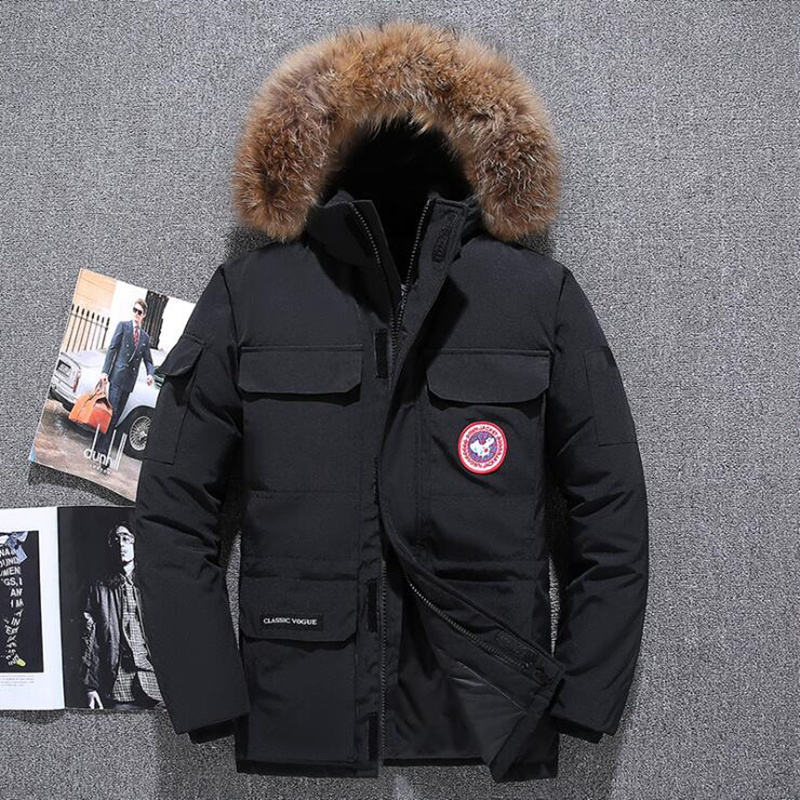 2019 90%  Down   Jackets Men Winter Jacket Men Fashion Thick Warm Parkas Fur White Duck   Down     Coats   Casual Man Waterproof   Down   Jacket