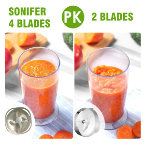 Image 3 - 4 lames deux vitesses mélangeur à main électrique 4 en 1 cuisine 500W mélangeur de nourriture batteur à oeufs légumes hachoir à viande 220V Sonifer