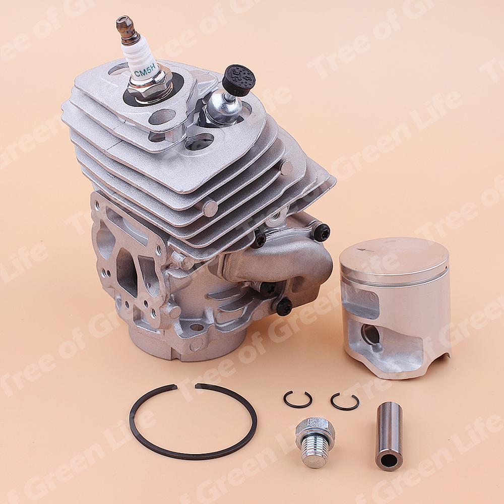 Tools : 46mm Cylinder Piston Kit For Husqvarna 562XP 560 Chainsaw 575355803 Decompression Valve Spark plug