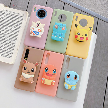 3D Japan Anime cartoon elf ball holder Soft Silicone phone case for HuaWei P20 P30 Lite P40 pro Mate 10 20 30 honor 9X cover 2