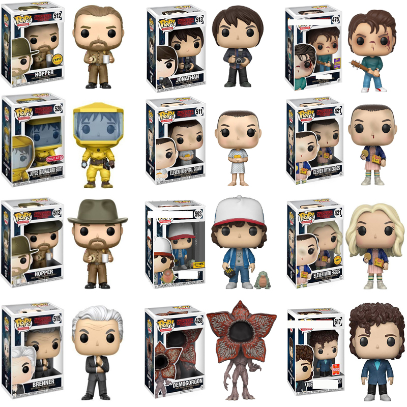 Funko POP Demogorgon Stranger Things Eleven Hopper Jonathan Collection Anime Figures PVC Doll Model Toys For Kid Christmas Gifts