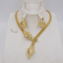 High Quality Dubai Gold color Jewelry Set For Women african beads jewlery fashion necklace set earring jewelry