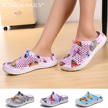 Summer Womens Slippers Slip 0n Clogs Shoes Quick Dry Beach Swimming Water Shoes Creative Butterfly Sandals