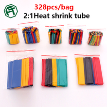 328pcs/Set Heat Shrink Tube,termoretractil Polyolefin Tube Cable Kit,Assorted Insulated Sleeving Tubing Wrap Wire Cable Sleeve