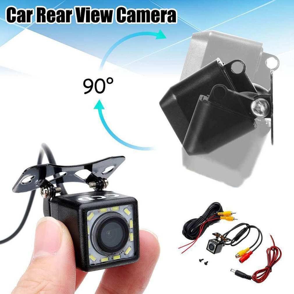 Car Rear View Camera Universal 12 LED Night Vision Backup Parking Reverse Camera Waterproof 170 Wide Angle HD Color Image title=