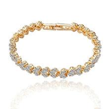 Ice River Women Metal Elegant Bracelet Charm Lady AAA Cubic Zirconia Beads DIY Bracelets Fashion Jewelry Gifts 1PCS