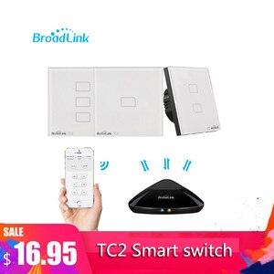 Image 2 - Broadlink TC2 1/2/3Gang EU Standard Light Switch Modern Design White Touch Panel Wifi Wireless Smart Control Via RM Pro/RM4 pro