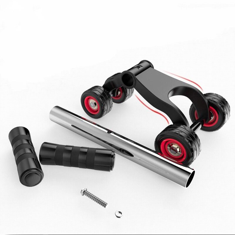 4 Roda Ab Rol Daya Perut Peralatan Latihan Otot Rumah Kebugaran Ab - Kebugaran dan binaraga - Foto 6