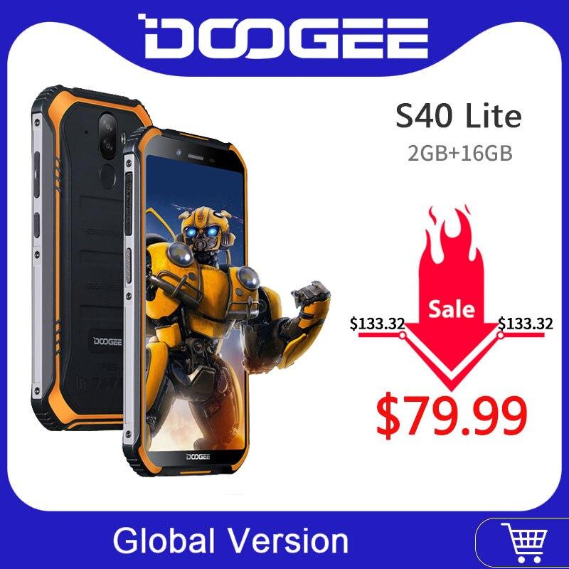 IP68 DOOGEE S40 Lite robusto teléfono móvil 5,5 pulgadas pantalla 4650mAh 8.0MP huella dactilar Quad Core 2GB 16GB Android 9,0 UMIDIGI A3 Android 9,0 banda Global 5,5