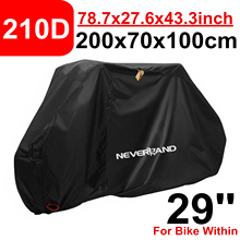 29 210D Rain Proof Waterproof Universal Bike Cover Covers UV Protector For Mountain Road Comfort Hybrid Cruiser Bikes D40