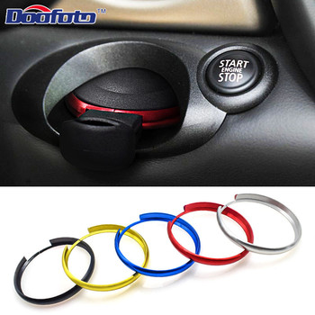 Auto Key Protective Ring Case Aluminum Alloy Rim Trim Cover For Bmw Mini Cooper E60 E39 E36 E30 X5 R56 Key Chain Decoration image