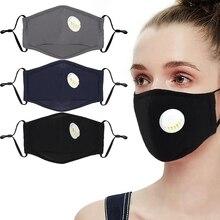 3 шт., хлопковая маска PM2.5 против дымки, дыхательный клапан, Пылезащитная маска для рта, респиратор с фильтром из активированного угля, маска для рта