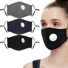 3pcs Cotton PM2.5 Anti Haze Mask Breath Valve Anti Dust Mouth Mask Activated Carbon Filter Respirator Mouth Muffle Mask Face