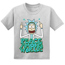20220 Cartoon Rick And Morty Kids Funny T-shirts Children Summer Cotton Short Sleeve Baby T shirt Boys/Girls Casual Tops Tees цена и фото
