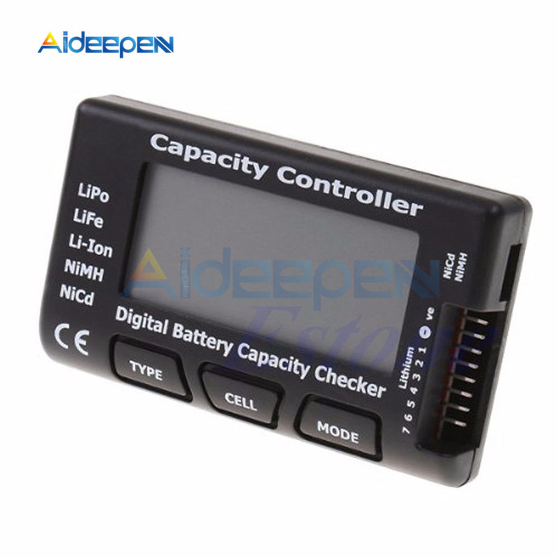 RC CellMeter-7 проверка емкости цифровой батареи для LiPo LiFe Li-Ion Nicd NiMH тестер напряжения батареи проверка счетчика ячеек