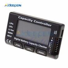 Verificador da tensão da bateria de nicd nimh que verifica o medidor da pilha verificador da capacidade da bateria de rc CellMeter-7 digitas para a vida lipo