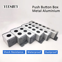 Водонепроницаемый алюминиевый кнопочный выключатель, корпус с тремя отверстиями для металлических кнопок, промышленное контрольное обору...