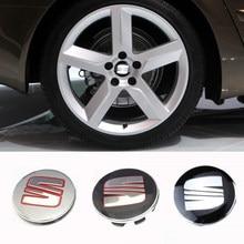 56/63mm para seat cupra leon 5f altea toledo arona alhambra ibiza mk3 cordoba logotipo cubo de roda do carro tampas capa centro acessórios