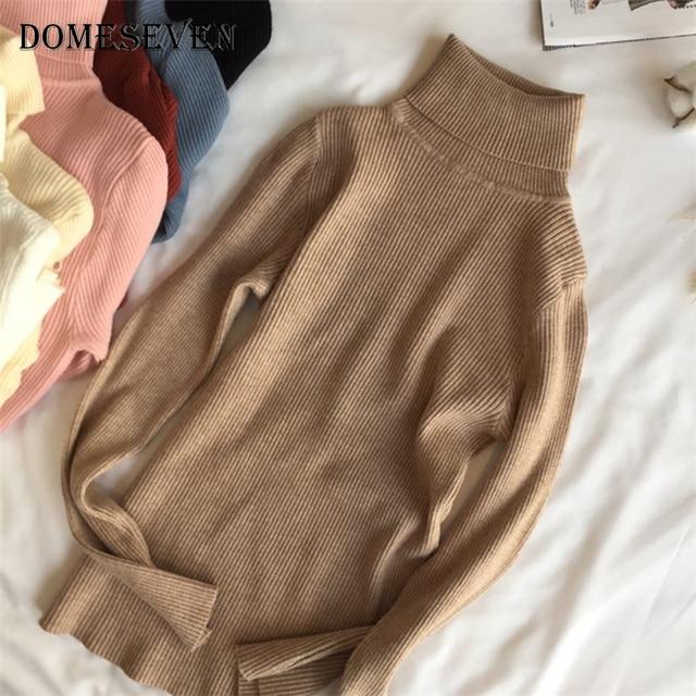 Basic Turtleneck Women Sweaters 2020 Autumn Winter Tops Korean Slim Women Pullover Knitted Sweater Jumper Soft Warm Pull Femme 3