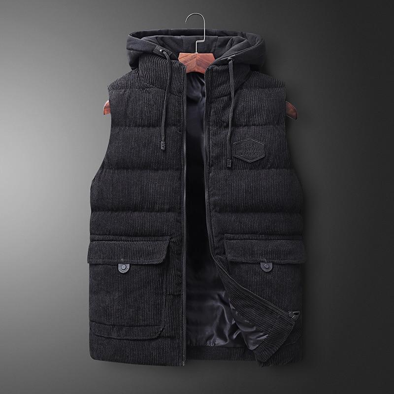 Mens Jacket Sleeveless Vest Winter Spring Fashion Casual Coats Male Cotton Warm Men's Vest Men Thicken Waistcoats Big Size 7XL