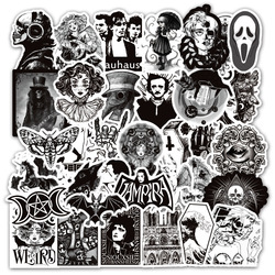 10/50pcs Color Black and White Stickers Random Graffiti Punk Sticker for Laptop Stickers Toys DIY Skateboard Motorcycle Sticker