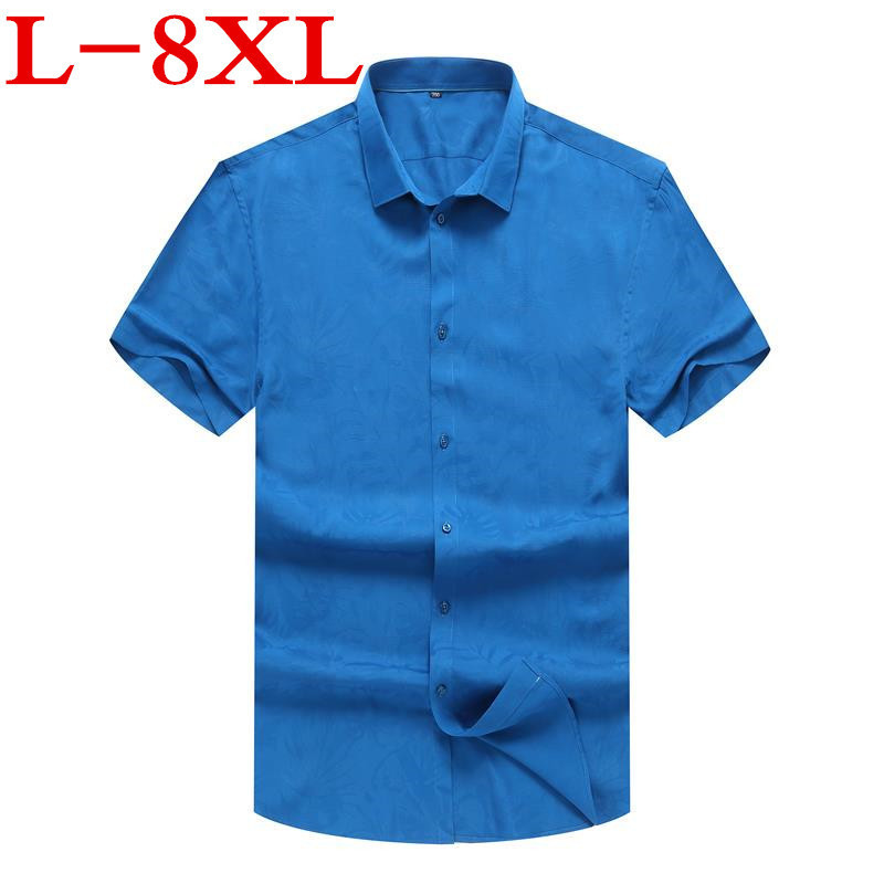 New10xl 9xl 8xl Hot Sale Summer Men Shirt Short Sleeved Fashion Floral Printing Male Shirts Brand Clothing Casual Shirt Man