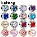 Kakany alta qualidade grande gem frisado multicolorido seleção adequado para estilo charme pulseiras jóias originais diy