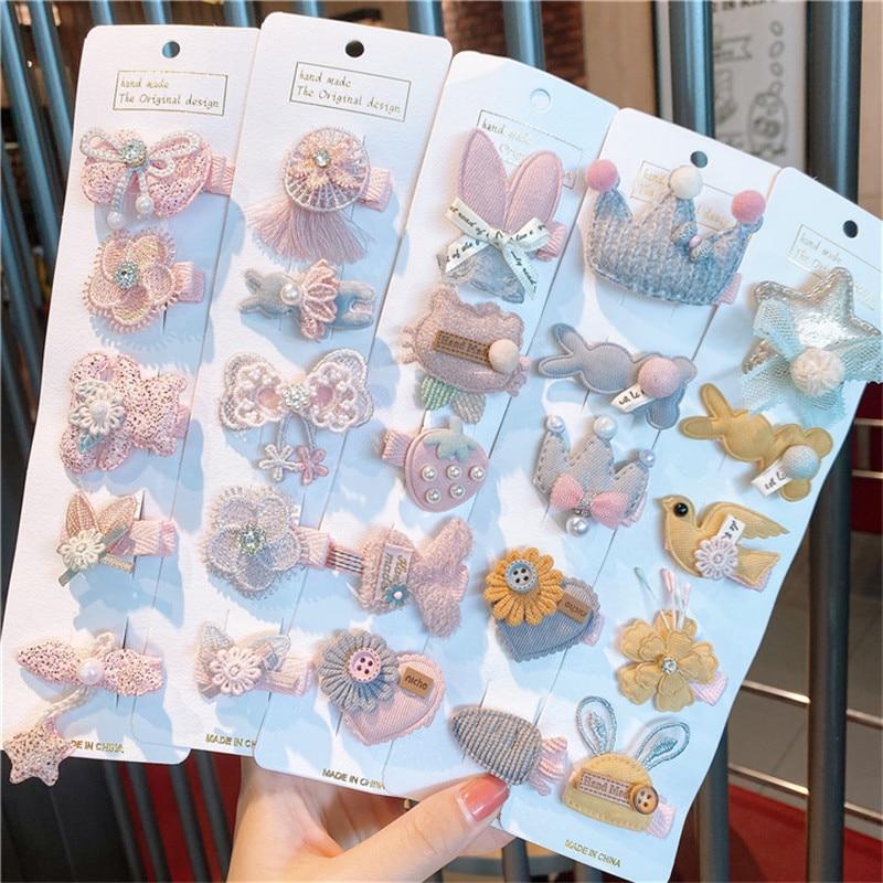 Корея Kawaii принцесса мультфильм заколки для волос для девочек Дети заколки для волос заколки аксессуары для детей заколки для волос украшен...