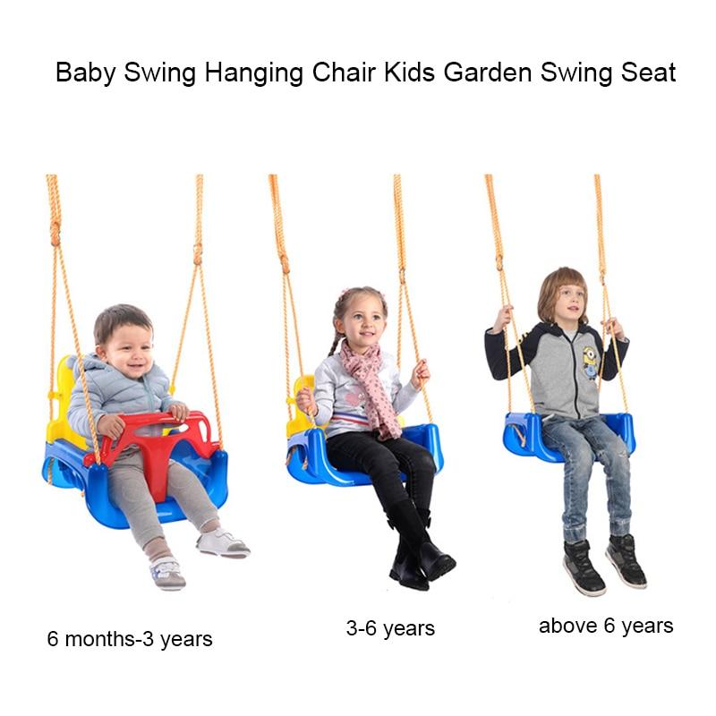 Baby Swing Hanging Chair Kids Garden Swing Seat Outdoor Playground Set Children Indoor Toy Swings For Fun