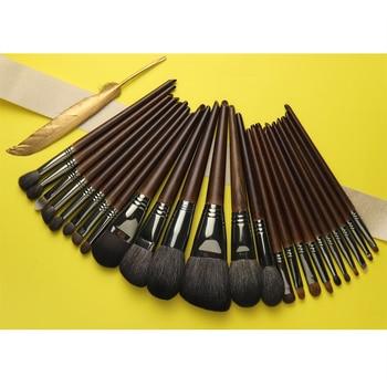 OVW Natural Goat Hair Makeup Brushes Set Professional Kit brocha maquillaje pedzle do makijazu blending smudging brush shader