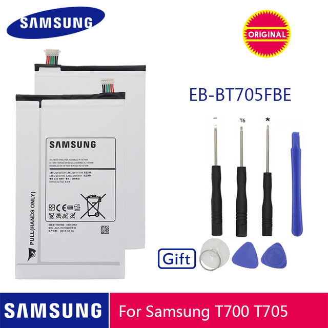 سامسونج الأصلي اللوحي استبدال البطارية EB BT705FBE EB BT705FBC 4900mAh لسامسونج غالاكسي تبويب S 8.4 T700 T705 T701 + أدوات