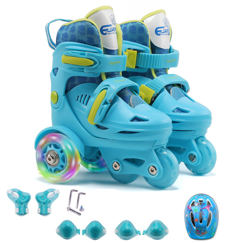 NEW Updated Kids Children Lovely Stable Balance Slalom Parallel Flashed Roller Skate 4 Wheels Shoes Adjustable Fall Prevention