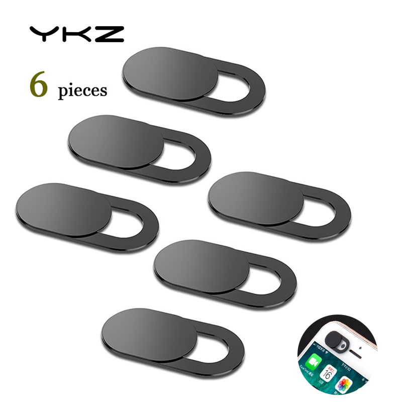 YKZ 6Pcs Mobile Phone Privacy Sticker WebCam Cover Shutter Magnet Slider Plastic For iPhone Web Laptop PC For iPad Tablet Camera