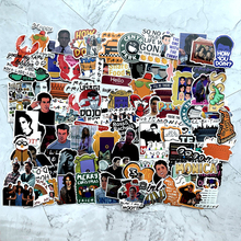 100pcs Friends tv show funny Creative badges DIY decorative stickers Cartoon PC wall notebook phone Waterproof sunfast sticker