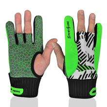 Professional 1 Pair Men Women Bowling Gloves antislip silicone Green Orange Bowling Ball Gloves Bowling Accessories