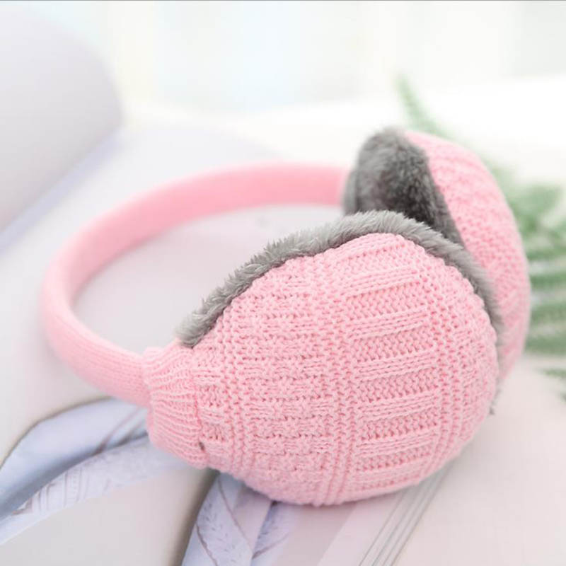 Calymel New Winter Earcap Knitted Earmuffs For Women Winter Ear Protector Warm Ear Muffs Cover Plush Unisex Ear Warmer