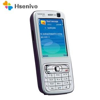 Оригинальный отремонтированный Мобильный телефон Nokia N73 разблокированный GSM Английский Арабский Русский Клавиатура